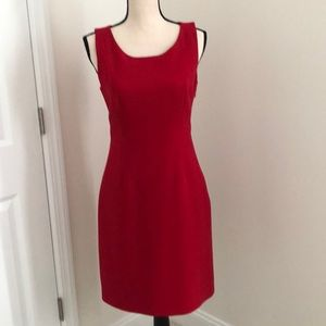 Limited red lined sleeveless dress